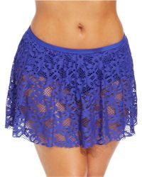 152c7283c4ed0 Kenneth Cole Reaction - Plus Size Crochet Swim Skirt - Lyst