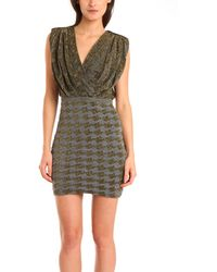 Coven - Houndstooth Metallic Dress - Lyst