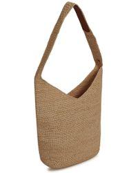 Helen Kaminski - Sentosa Brown Crochet Shoulder Bag - Lyst