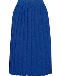 Sibling | Pleated Metallic Knitted Skirt | Lyst