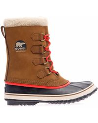 Sorel Grizzly Suede and Rubber Boots - Lyst