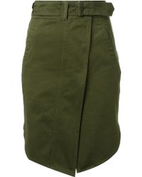 Isabel Marant Military Belted Skirt - Lyst
