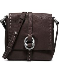 Michael Kors Julie Double-Ring Leather Crossbody - Lyst