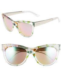 Gucci 'Flora' 55Mm Retro Sunglasses green - Lyst