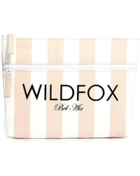Wildfox Bel Air Stripe Canvas Bikini Bag - Lyst