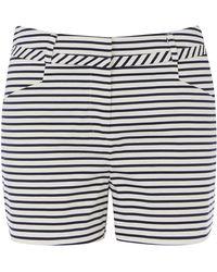Oasis Stripe Cotton Short - Lyst