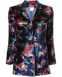Kenzo Vintage Velvet Flower Print Jacket - Lyst