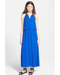 Madewell Weekend Crepe Dress blue - Lyst