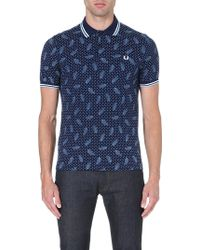 Fred Perry Drakes Archive Paisley Polo Shirt Carbon - Lyst
