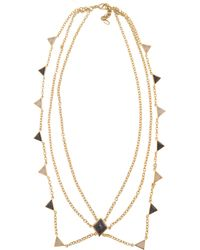 Isharya - Op Art Pyramid Quartz Necklace - Lyst