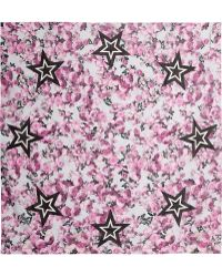 Givenchy - Square Scarf 140cm X 140cm Roses & Stars - Lyst