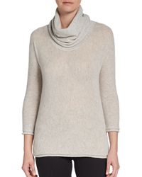 James Perse Cashmere Funnelneck Sweater - Lyst
