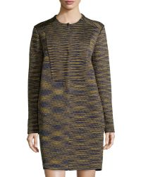 M Missoni Textured Striped Metallic Cloak - Lyst