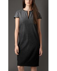 Burberry Technical Wool Dégradé Dress - Lyst