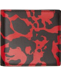 Alexander McQueen Black And Red Leather Bifold Wallet - Lyst