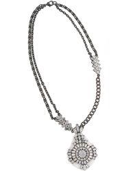 Erickson Beamon Rocks Heart Of Glass Silver-Tone And Glitz Round Pendant Necklace - Lyst