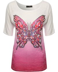 Jane Norman Mosaic Butterfly Print Top - Lyst
