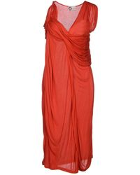 Lanvin Red Knee-length Dress - Lyst