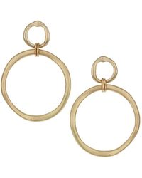 Topshop Double Linked Hoop Earrings Gold - Lyst