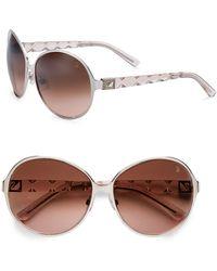 Swarovski Oversized Round Metal Sunglasses - Lyst