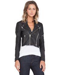 Capulet Leather Racing Moto Jacket - Lyst