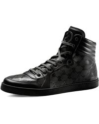Gucci Hitop Interlockingg Sneaker Black 75g85d - Lyst