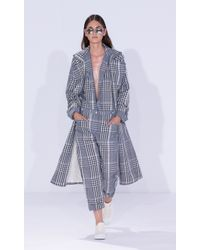 Temperley London Linen Check Trench - Lyst