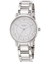 Kate Spade Gramercy Scalloped Mother-Of-Pearl & Stainless Steel Bracelet Watch silver - Lyst