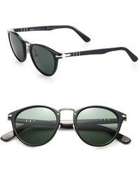 Persol Phantos Suprema 49Mm Polarized Sunglasses black - Lyst