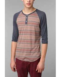 Alternative 2tone Patterned Henley - Lyst