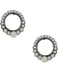Topshop Open Circle Stone Earrings - Lyst