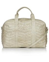TOPSHOP - Zig-Zag Quilted Leather Luggage Bag - Lyst