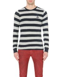 Diesel T-colty Cotton-jersey Top - Lyst