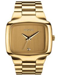 Nixon Big Player All Gold Watch - Lyst
