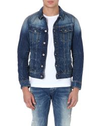 G-star Raw Tailored Denim Jacket Med Aged - Lyst