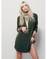 Free People | Lacausa Womens Always On Time Shirtdress | Lyst