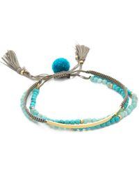 Tai - Beaded Bar Bracelet Set - Turquoise/gold - Lyst