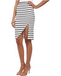 MINKPINK Stripe Maxi Split Skirt blue - Lyst