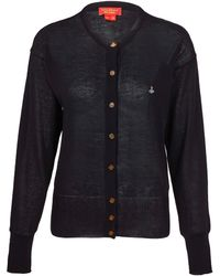 Vivienne Westwood Red Label Black Orb Cotton Cardigan - Lyst