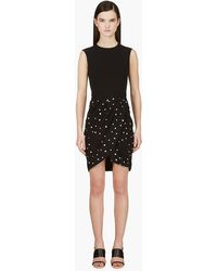 Giambattista Valli Black with White Dots Dress - Lyst