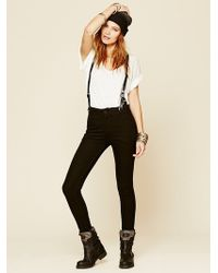 Free People James Suspender Skinny - Lyst