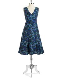 Tracy Reese Blue Flared Frock - Lyst
