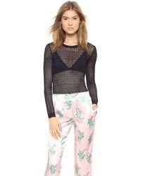 Nina Ricci Long Sleeve Pullover Eclipse - Lyst