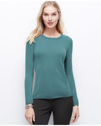 Ann Taylor Cashmere Sweater - Lyst