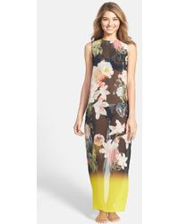 Ted Baker 'Opulent Bloom' Maxi Cover-Up - Lyst