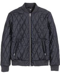 H&M | Quilted Bomber Jacket | Lyst