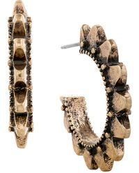 Lucky Brand - Modern Shine Spiky Hoop Earrings 1 Inch - Lyst