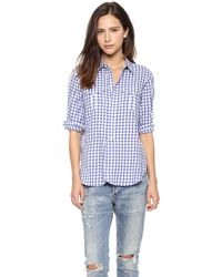 Madewell Blue Gingham Button Down Dusty Twilight - Lyst
