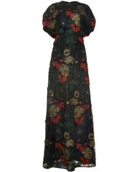 Rosetta Getty Floral Filigree Embroidered Circle Gown - Lyst
