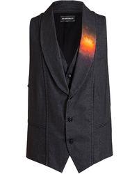 Ann Demeulemeester Red Spot Detail Waistcoat - Lyst